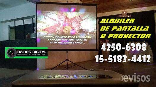 Alquiler de pantallas y proyectores en avellaneda 4250-6308