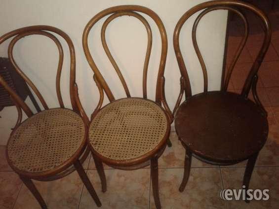 Juego sillas vienesas restauradas de 100 años