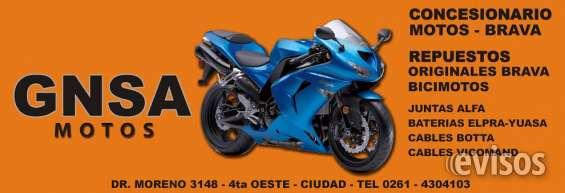 Gnsa - motos -repuestos/accesorios originales brava - ventas por mayor y menos