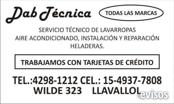 Servicio tecnico de lavarropas en monte grande 42981212