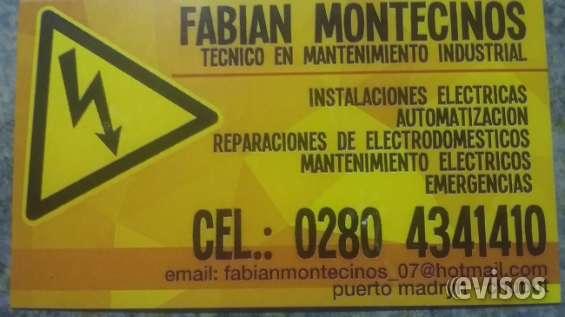 Electricista instalador y mantenimiento en general