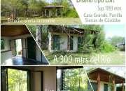 Duena vende terreno con cabana. sierras de cba