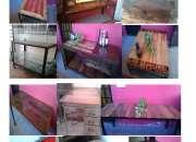 Muebles estilo industrial hierro  y madera varios