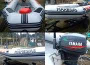 OFERTON Vendo semirigido 4,50  motor yamaha 40HP + tráiler galvanizado ESCUCHO OFERTAS!!