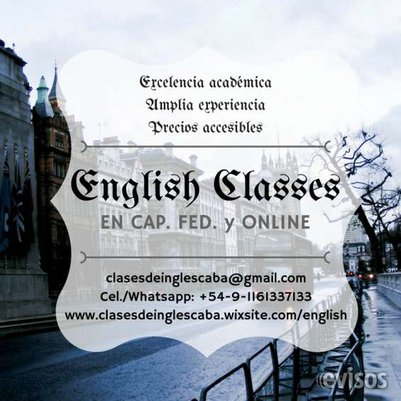 Clases de inglés *excelencia académica* precios accesibles