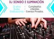 DJ , LUCES, SONIDO, PROYECCIÓN