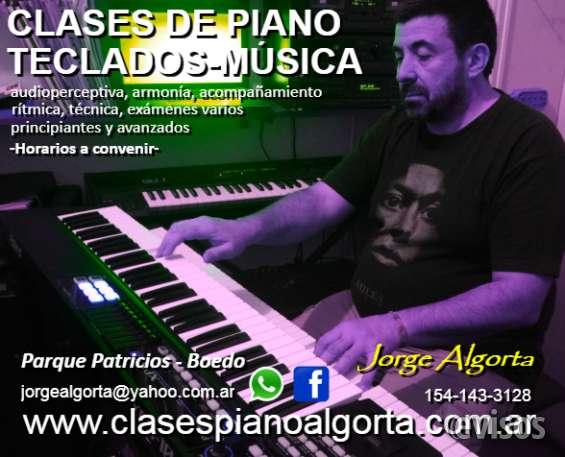 Piano, teclados, clases aparticulares