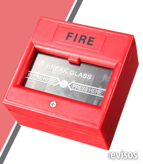 Pulsador de incendio con vidrio