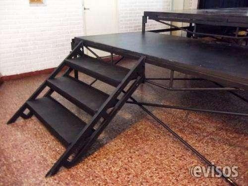 Escalera para escenario modular / tarima