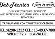 TECNICO DE LAVARROPAS EN MONTE GRANDE 4298 1212