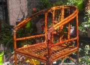 Vendo sillón de caña tacuara reforzado con mimbre