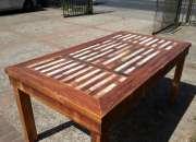 Mesas grandes de madera recicladas