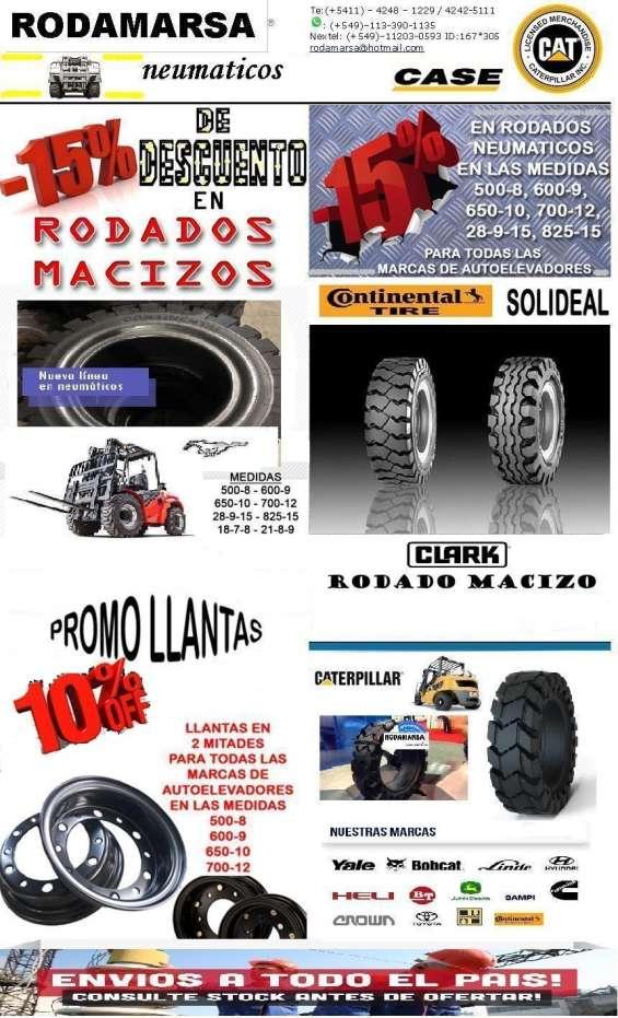 Llantas industriales macizos solid ruedas autoelevadores