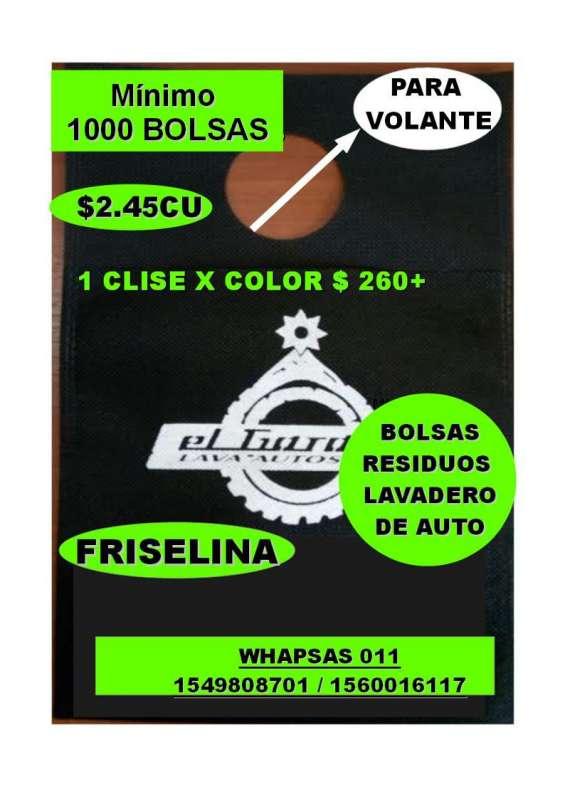 Bolsas con su logo de friselina impresas fabricacion nacional