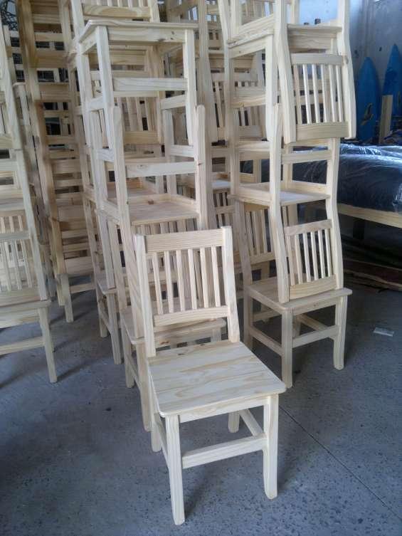 Sillas de pino directo de fabrica