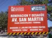 cartel de obra en construccion