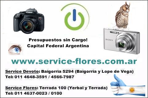 Reparación servicio técnico cámaras digitales
