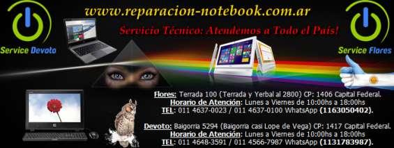 Reparación notebook