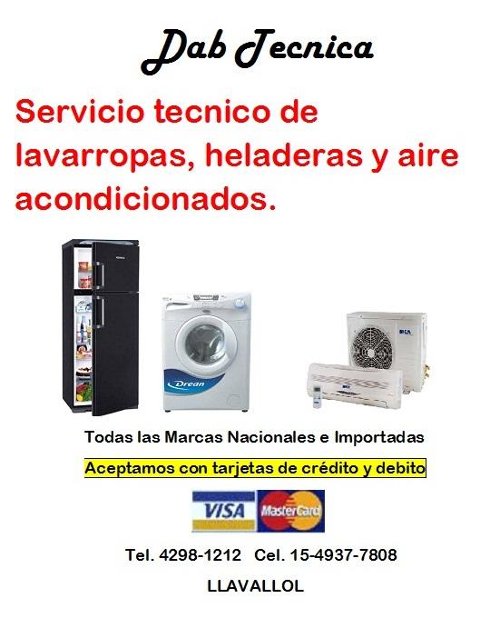 Servicio técnico de lavarropas en temperley 42981212