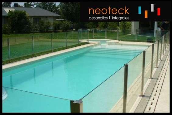 Barandas cercos para piletas piscinas de acero inoxidable