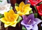 Souvenirs velas y Fanales flores vela