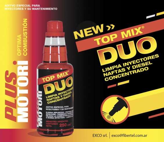 Plus motori limpia inyectores top mix duo