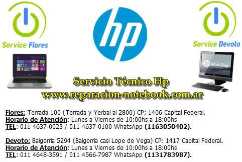 Servicio técnico hp