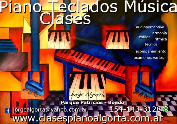 Clases particulares, piano,teclados, musica