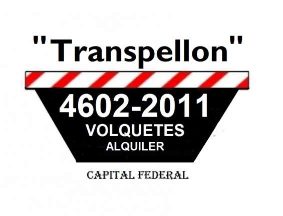 "Volquetes ""transpellon"" servicios al 4602-2011"