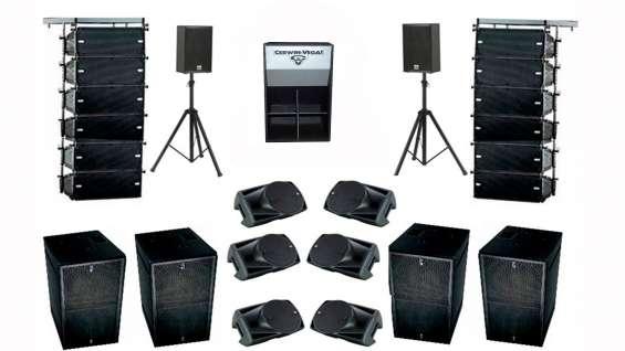 Alquiler de sonido bandas shows fiestas eventos servicio dj