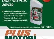 Aditivo 4 tiempos Quattro Plus SAE 20W-50 API SG  Plus Motori