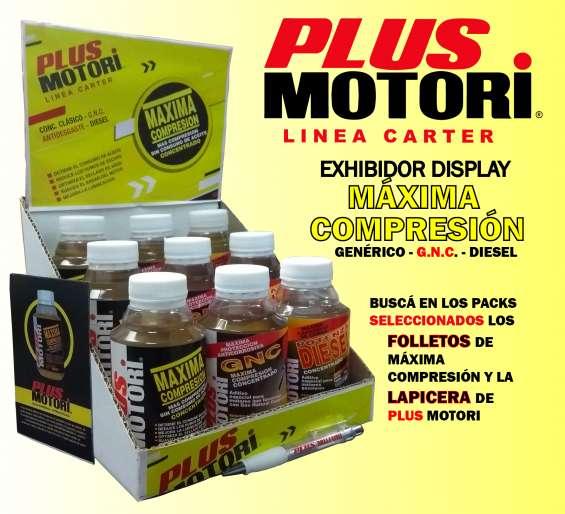Aditivo plus motori pack exhibidor display máxima compresión carter