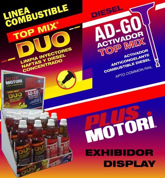 Aditivo plus motori linea combustible limpia inyectores activador diesel