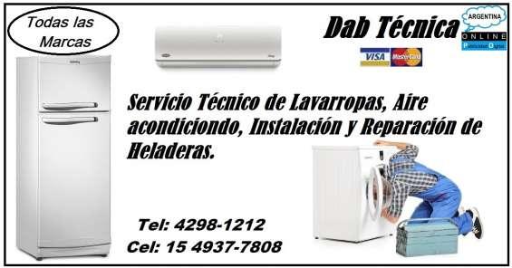 Servicio técnico de lavarropas en turdera 42981212