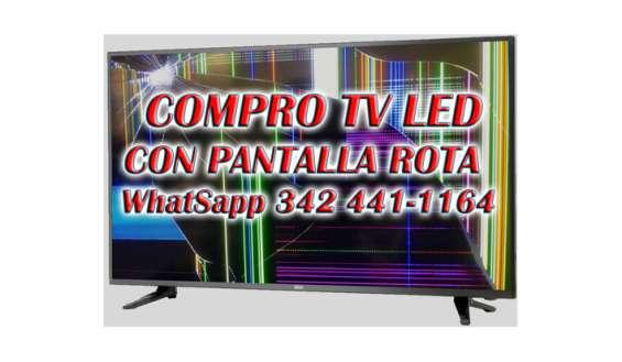 Compro tv led con pantalla rota, santa fe