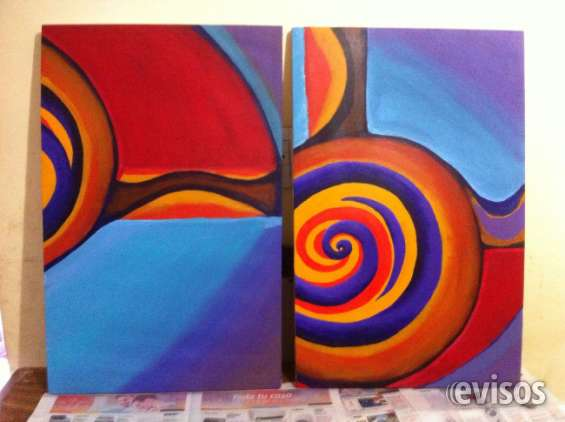 Vendo cuadro díptico abstract