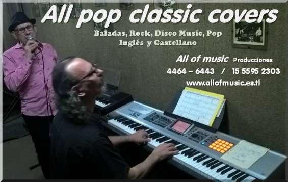 Shows covers ingles pop rock disco melodico baladas