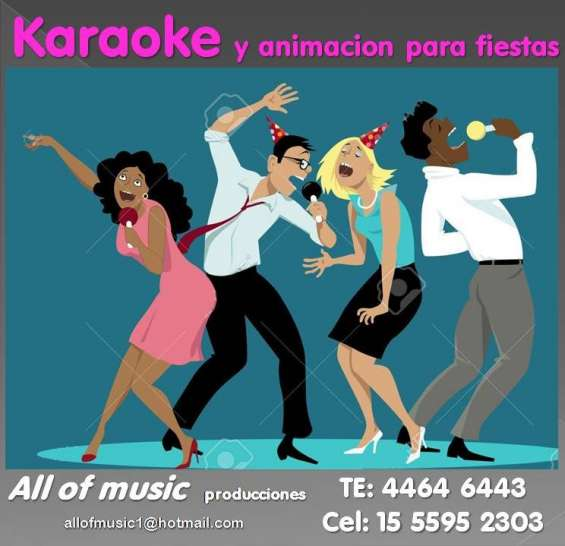 Karaoke para fiestas animacion sonido luces
