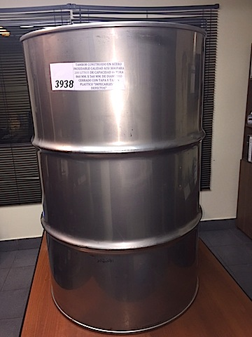 Tambor acero inoxidable 200 litros