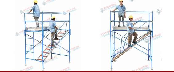 Alquiler de andamios, trompos y escaleras .cel 1563691782
