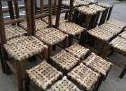 Sillas asiento de tiento, muy rusticas