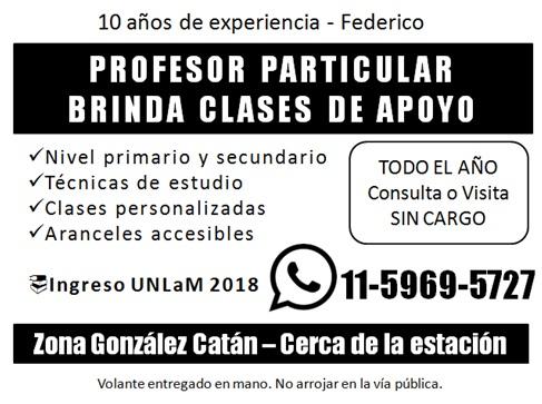 Profesor federico gonzalez catan