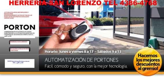 Herreria san lorenzo portones automaticos