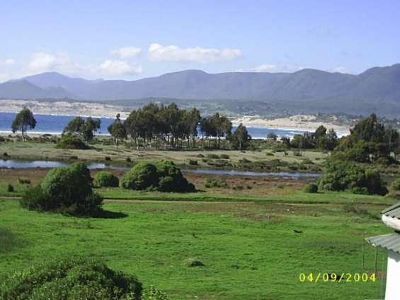 Vista desde la ruta principal hacia la playa