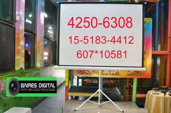 Alquiler de pantalla y proyector en avellaneda 4250-6308