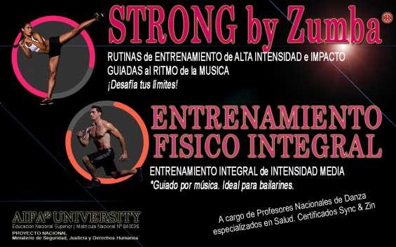 Strong by zumba y entrenamiento físico en aifa