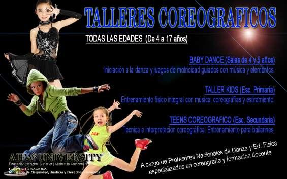 Talleres coreográficos para chicos desde 3 hasta 17