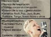 Clases de canto / tecnica vocal, guitarra y piano