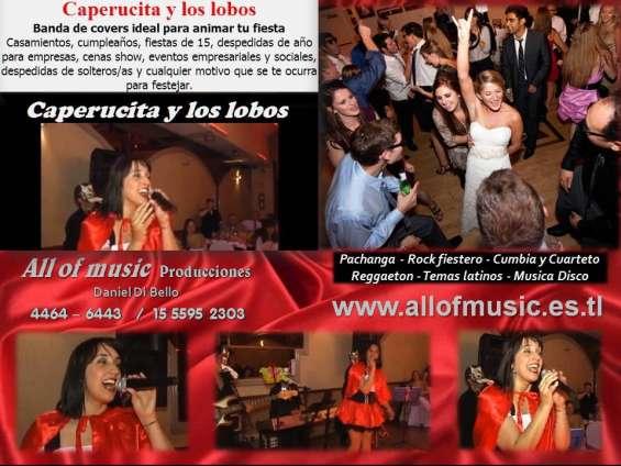 Banda de covers para fiestas baile animacion show