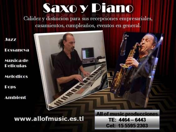 Saxo y piano show fiestas recepciones eventos